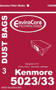 Kenmore Replacement Ker-1405 Paper Bag, Style E 5023/ 5033 Env 3Pk