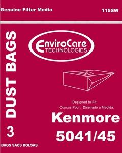 Kenmore Replacement Ker-1408 Paper Bag, Style H 5041/ 5045  Env 3Pk