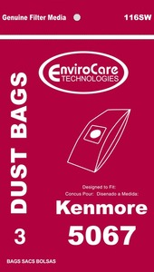 Kenmore Replacement Ker-1426 Paper Bag, Style X Soft & Hard Body 5067 Env 3Pk