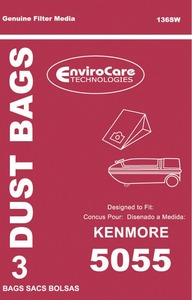 Kenmore Replacement Ker-1455 Paper Bag, Kenmore 5055  Canister Env 3Pk