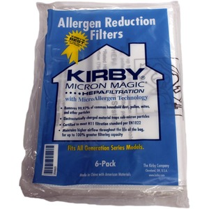 Kirby, K-204803, 6, Pack, Paper, Dust, Bags, 3M, Allergen, Control, G6, Ultimate, G