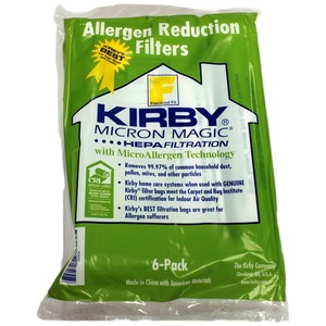 Kirby K-204808 Paper Bags, 6Pk F-Style Cloth Allergy Style Sentria