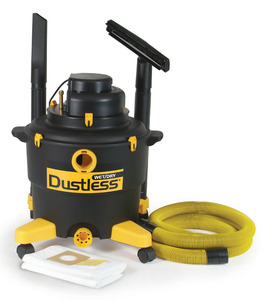 """LoveLess Ash, 16003, Drywall, Wet Dry, Shop Vac, Vacuum Cleaner, Love Less, Quiet Series, 16 Gallons, 126CFM, 77"""" Water Lift, 79dB, 11A, Filters, Wands, Tools MADE IN USA"""