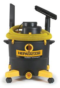 "LoveLess Ash 16006 Drywall Dry Paint Wet Dry Vacuum Cleaner Love Less, Hepa Filter, 16 Gallon, 126CFM, 76"" Water Lift, 79dB, 10.6 Amp, 12' Hose, Tools"
