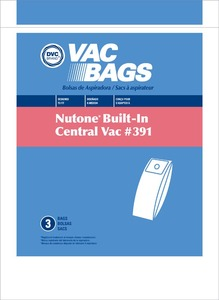 Nutone Replacement Nur-1400 Paper Bag, Nutone Oem Bag Number 391 Dvc 3Pk