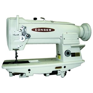 "Consew 255RB-3 Walking Foot Needle Feed Sewing Machine, Stand, 10""Arm, 9/16""Lift, 4SPI, Safety Clutch, Drop In Vertical Axis Bobbin 15041, 3000RPMnohtin"