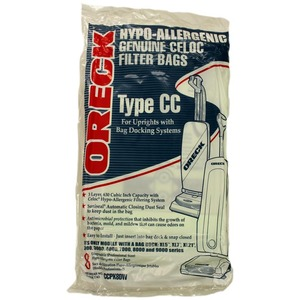 Oreck O-20008Dw Paper Bag, Oreck Type Cc Uprights Hypoallerg 8Pk