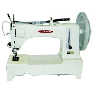 "Consew 733R5 16""LongArm Walking Foot Sewing Machine, 1.25""Foot Lift, 13mmSL, 2SPI, Reverse, Barrel Bobbin, Long Beak Oscillator, KD Power Stand 550SPMnohtin"