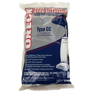Oreck O-Ccpk80F Paper Bag, Cc Odor Elim  Aller Cloth Charcoal 8Pk
