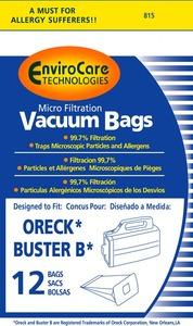 Oreck Or-1450 Paper Bag, Oreck Buster B Micro Env 12Pk
