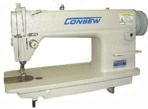 Consew 7360RH-R Heavy Duty High Speed Lockstitch Industrial Sewing Machine with Roller Foot & Assembled Power Stand, 5500SPM - FREE 100 Organ Needles
