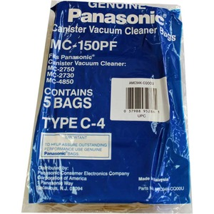 Panasonic P-Mc150Pf Paper Bag, Pana Type C4  Canister 2750  5Pk