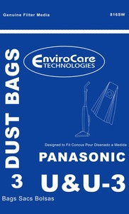 Panasonic Replacement Pr-1400 Paper Bag, Pano Type U/U3 Upright Env 3Pk
