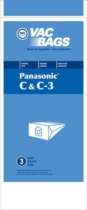 Panasonic Replacement Pr-1425 Paper Bag, Pana Type C/C3 Canister Dvc 3Pk