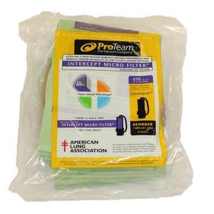 Pro-Team Pv-100291 Paper Bag, Line Vacer 10 Qt 10Pk