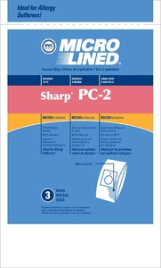 Sharp Shr-1445 Paper Bag, Pc-2 Canister Micro Filtration Dvc 3Pk