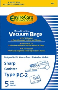 Sharp Shr-14455 Paper Bag, Sharp 63/7311 Can Env 5Pk