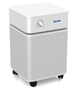 Austin Air HM400 Purifier Cleaner HealthMate, 1500 Sq Ft, 360° Perforated Steel Intake, Upper Airflow Output, 3 Speeds, 1.3A, 115W, HEPA Std, 45 Lbs