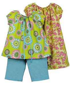 Childrens Corner CC283  Sizes 4-6 Jane Peasant-Style Dress or Top and Includes Pants Pattern, Sizes 4-6