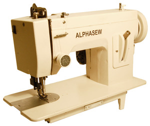 "Alphasew, PW200, pw200-ss, Portable, Straight Stitch, Walking Foot, Flat Bed, 14.5 x 7"", Sewing Machine, PW-200, 150W, 1.5A, 1/4"" Welt Foot, FREE Case, & 100 Needles, 1/4"" Welt Piping Cording Foot"