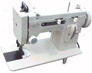 "Alphasew PW200 All Metal Portable Walking Foot Straight Stitch Flat Bed 14.5 x 7""  Sewing Machine with 1/4"" Welt/Piping/Cording Foot - CHINA"