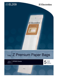 Electrolux EL209-4 Z Style premium paper dustbags 5 Paper bags Fits: EP9020 Series