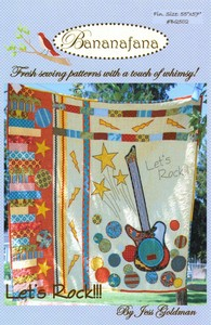 "Bananafana BQ502  Lets Rock Quilt Pattern Finished size 54""X56"""