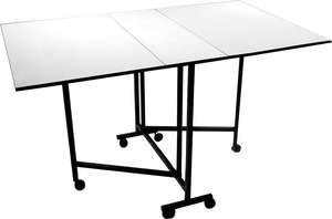 "Sullivans 12570 Home Hobby Cutting and Craft Table 60x36x36""H on 6 Casters , Add Optional Cutting Mats"