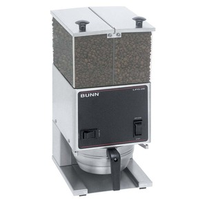 New! Bunn LPG2E Low Profile Portion Control Grinder with 2 Hoppers