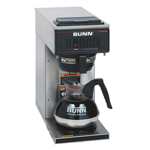 Bunn VP17-1 SS Pourover Coffee Brewer with One Warmer, Stainless Steel Coffee Machinenohtin