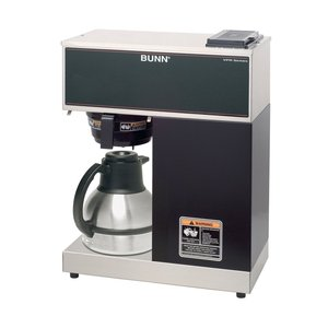 New! Bunn VPR 12-Cup Pourover Commercial Coffee Brewer with Two Easy Pour Decanters, Black