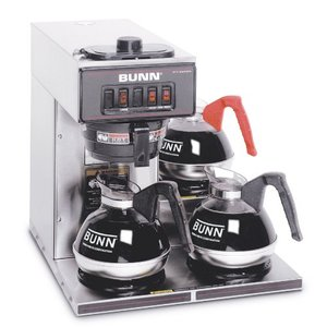 Bunn VP17-3 SS Pourover Commercial Coffee Brewer with Three Lower Warmers, Stainless Steel Coffee Machine