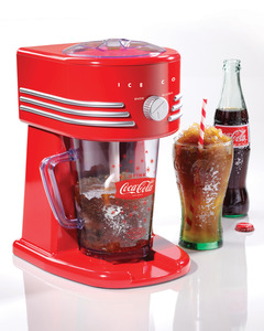 Nostalgia Electrics Coca-Cola Series FBS400COKE Frozen Beverage Maker, Fine to Coarse Shaved Ice, Slush Margaritas Daiquiris Smoothies Drink Machine