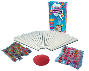 Nostalgia Electrics HCK800 Hard & Sugar-Free Cotton Candy Kit