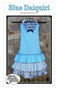 Sew Much Good SMG560 Blue Daiquiri Adult Apron Pattern Fits All Sizes S, M, L, XL