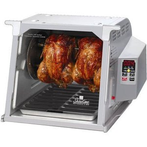 Ronco ST5000PLGEN Showtime Digital Rotisserie BBQ Oven Platinum, Timer, Spit, Basket, 8 Kabob Rods, Ties, Injector, Thermometer, Gloves, DVD, Recipes