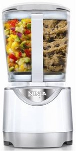 Euro-pro Ninja BL204 Kitchen System Pulse Blender 40oz, Pitcher 4Blades 3Lids, Single Serve 3Cups, Cookie Paddle, DoughBlade, BPAFree, Dishwasher Safe