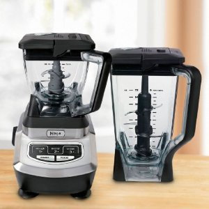 Euro-Pro Ninja BL700 Kitchen System Blender Dough Food Processor 1100W, 72Oz Pitcher, 3 Speed Blades, Lock Lid, Fill Spout, BPA Free, Dishwasher Safe