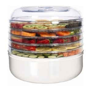 New, Ronco, FD1005WHGEN, 5-Tray, Electric, Food Dehydrator, beef, or turkey, jerky, banana, pineapple or apple snacks, dried, vegetables, or herbs, homemade, yogurt