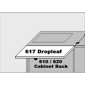 Sylvia 617 Dropleaf Accessory for 610 & 620 Cabinets