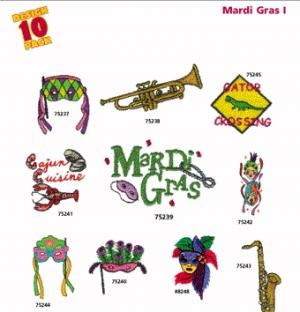 Amazing Designs 2056 Mardi Gras! I Embroidery Disk