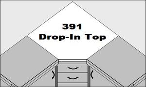 Sylvia 391L Drop-in Corner Top Accessory for Model 350