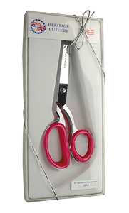 "Heritage Klein GB44 8"" Dressmaker Scissor Shear Bent Trimmer with Hot Pink Inserts in Gift Box"