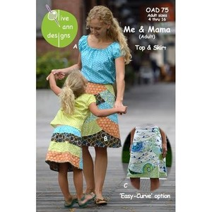 Olive Ann Designs OAD75 Me & Mama (Adult) Skirt, Top