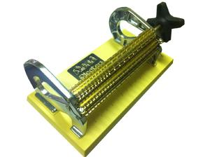"Read, Original, 16, Needle, Row, Smocking, Pleater, Machine, Made, South, Africa, 12"", Width, 10, Half, Spaces, Metal, Ends, Brass, Rolls, Large, Knob"