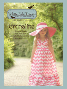 Violette Field Threads VF05 Emmaline Dress Pattern Size 2T-10yrs