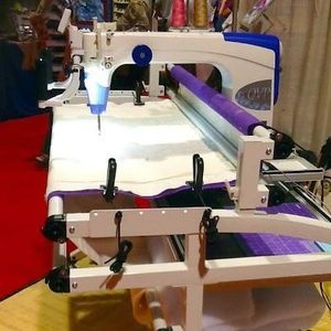 "Juki TL2200QVP, Demo Quilting Machine, +12' Frame, +Rear Handles, +Creative Robot, Juki, TL2200, tl2200qvp, Quilt Virtuoso Pro, 18x10"" Arm, quilting Machine,  10' Frame"