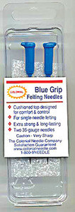 Blue Grip 6546A Felting Needles 2Pk 36-Gauge Hand Needle Punch Textures