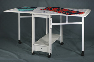 Fashion, Cabinets, Roberts, 97, 98, Fabric, Cutting, Craft, Table, White, Casters, Specify, Size, 97, 60, 32, 63, 98, 72, 40, 83, Lbs, Optional, Drawers
