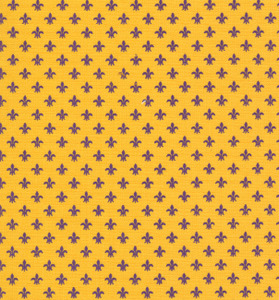 Fabric Finders 1238 15 Yard Bolt 9.34/Yd  Gold Fleur de lis 100% Cotton 60inch Wide